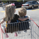 Children in Shopping Cart