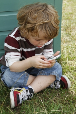 boy with iphone