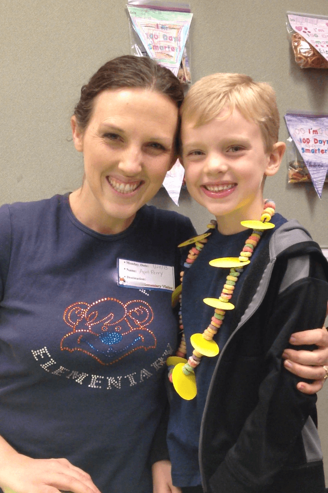 This is me and my kindergartner--on one of the rare days I'm able to volunteer. Because I shared my heart with his teacher and let her know I would be there more often, if I could, I don't feel guilty on the days I have other obligations.  It's a win-win!
