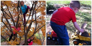 Tree Climbing is a favorite activity./Elaborate Construction Project
