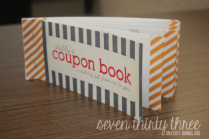 this darling coupon book is something fun that children can give to their parents