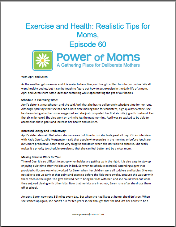 Exercise&Health.powerofmoms.com