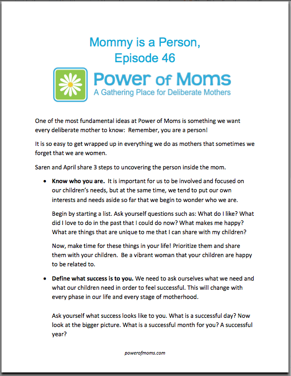 MommyIsAPerson.powerofmoms.com
