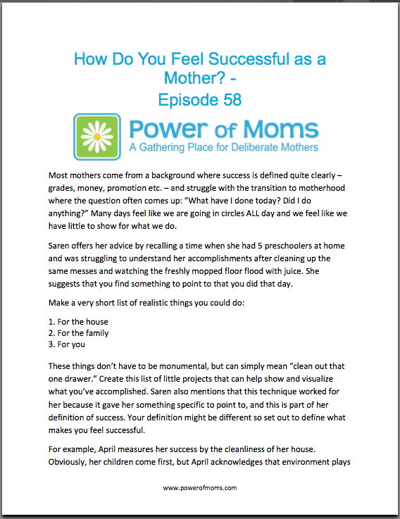 SuccessfullAsAMother.powerofmoms.com