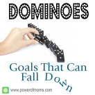 It's downright challenging, but goals can be achieved, even when you have kids! www.powerofmoms.com