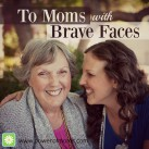 How often do we have to put on a brave face to get through a tough time? www.powerofmoms.com
