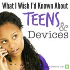 What have you learned from your teen's use of electronics? powerofmoms.com
