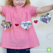 Power of Moms Pick: A Valentine Banner Made from Christmas Cards