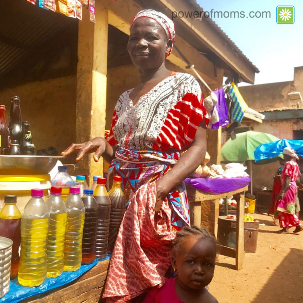 mother at market in Ghana