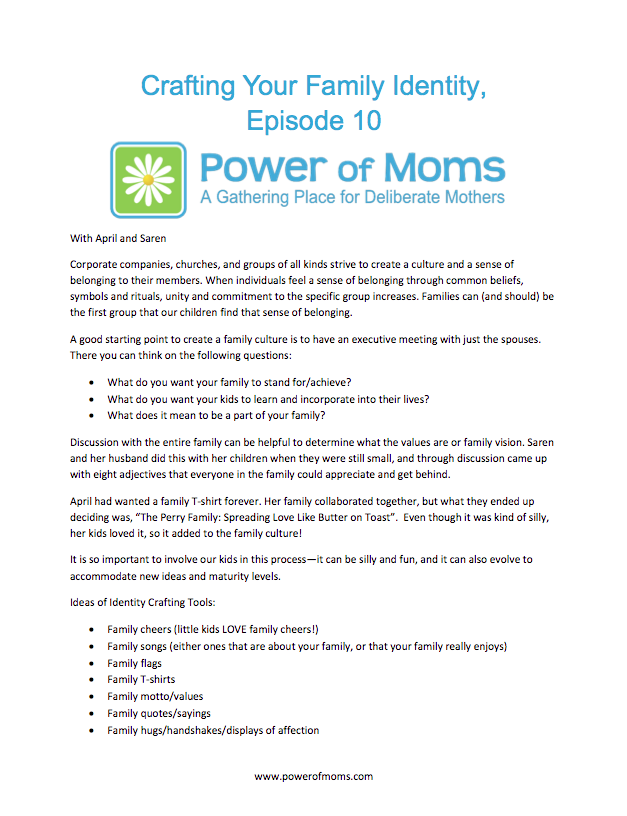 CraftingYourFamilyIdentity.powerofmoms.com
